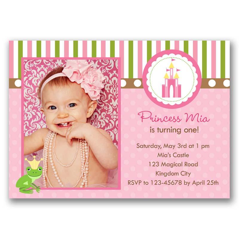 Princess Birthday Invitation With Photo Castle