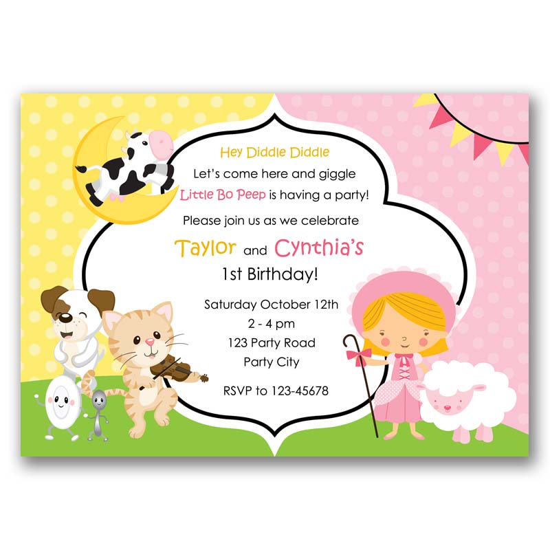 Nursery Rhymes Birthday Invitation