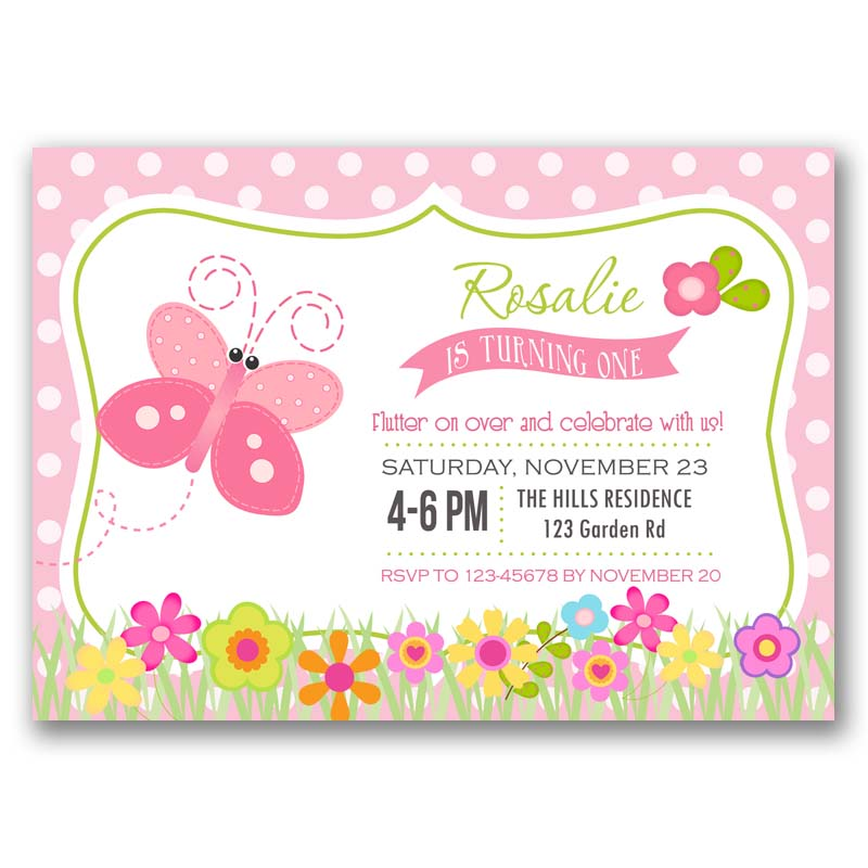 Butterfly Garden Birthday Invitation CallaChic