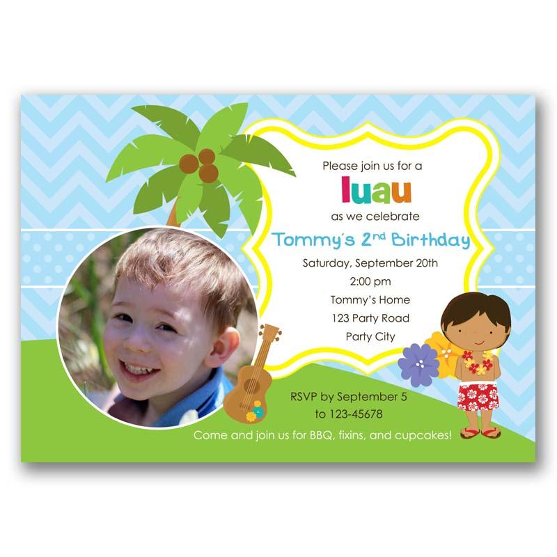 Hawaii Luau Birthday Invitation