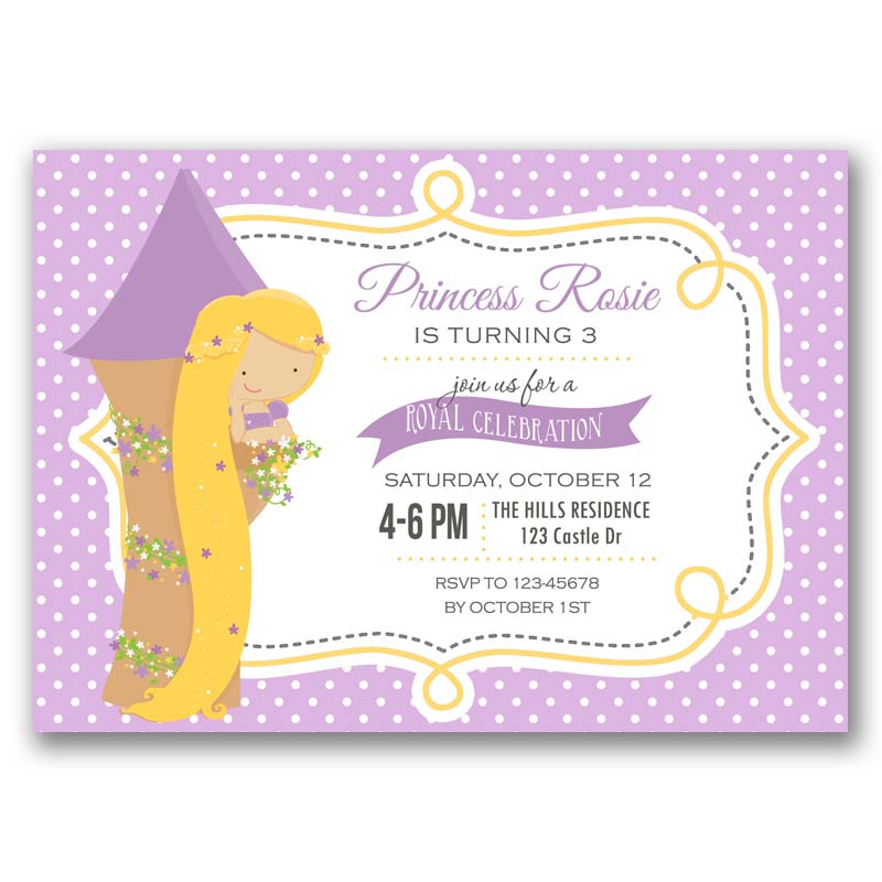 Rapunzel birthday invitation princess callachic rapunzel birthday invitation filmwisefo