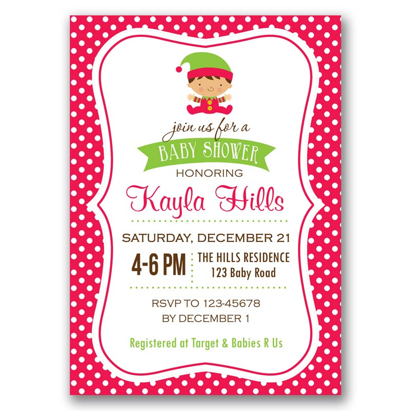 Christmas Baby Shower Invitation – CallaChic
