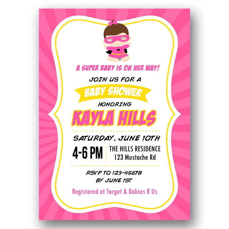 Superhero Baby Shower Invitation ...