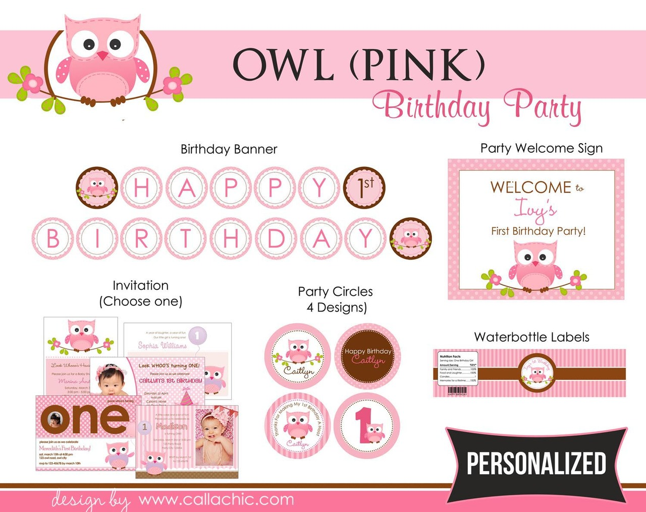 What a Hoot Purple Owl Birthday Banner Party Decoration Backdrop