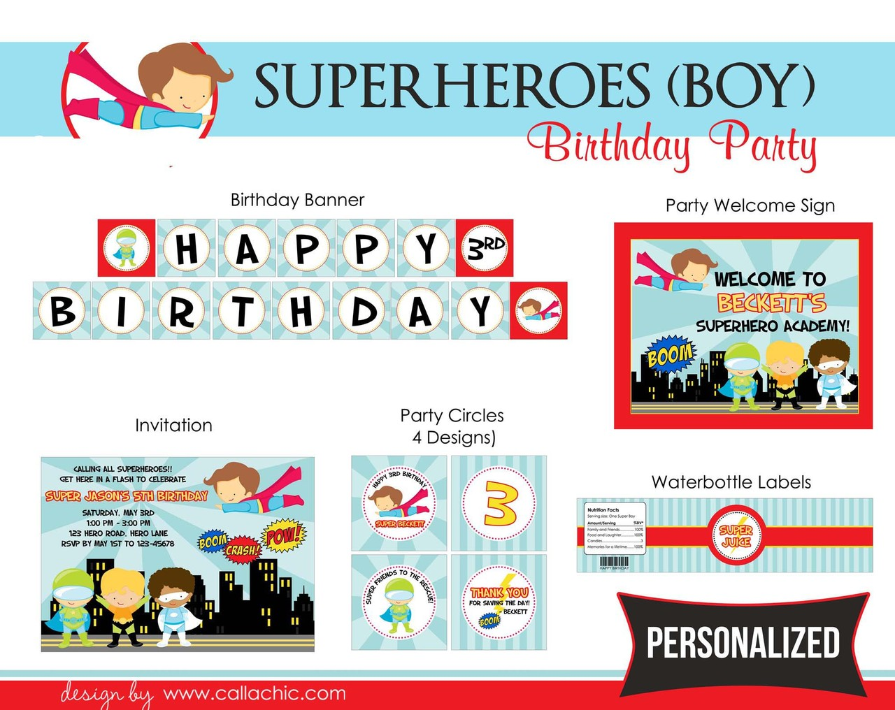 Superheroes Birthday Party Package (Boy) – CallaChic